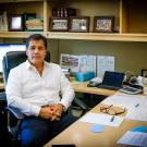 Cliff Contreras in his office